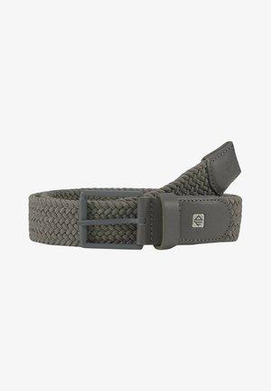 Braided belt - grey uni