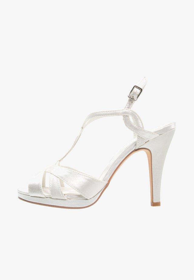 AMPARO - High heeled sandals - ivory