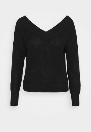 ONLMELTON  LIFE V-NECK - Jumper - black