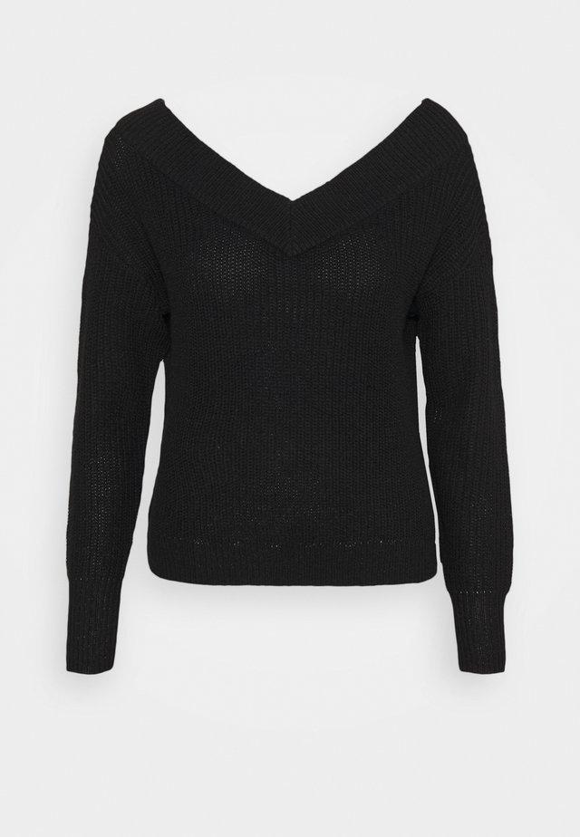ONLMELTON  LIFE V-NECK - Pullover - black