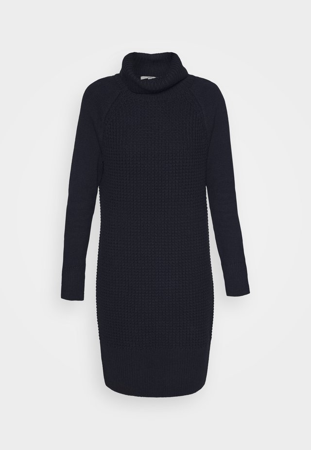 COWL NECK - Jumper dress - navy