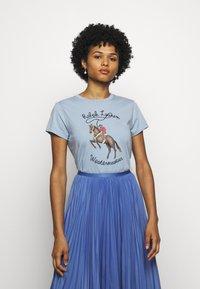 Polo Ralph Lauren - WSTRNWR SHORT SLEEVE - T-shirts med print - estate blue - 0