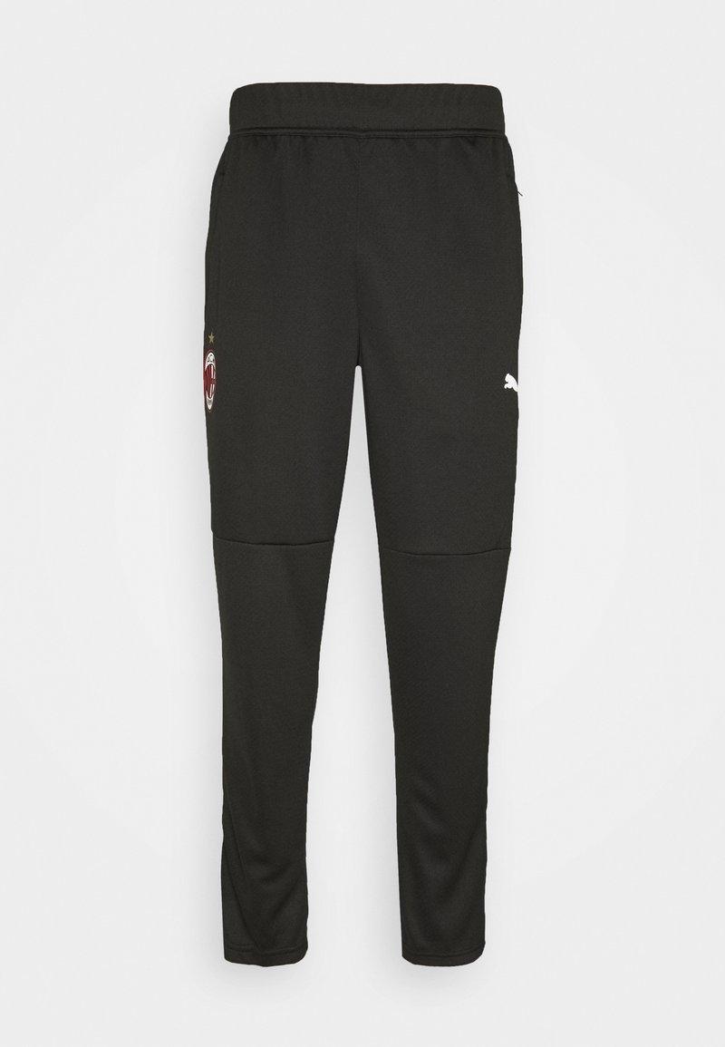 Puma - AC MAILAND WARMUP PANTS - Verryttelyhousut - black/tango red