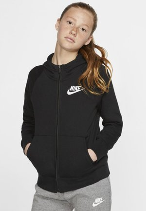 FULL ZIP - Zip-up hoodie - black/white