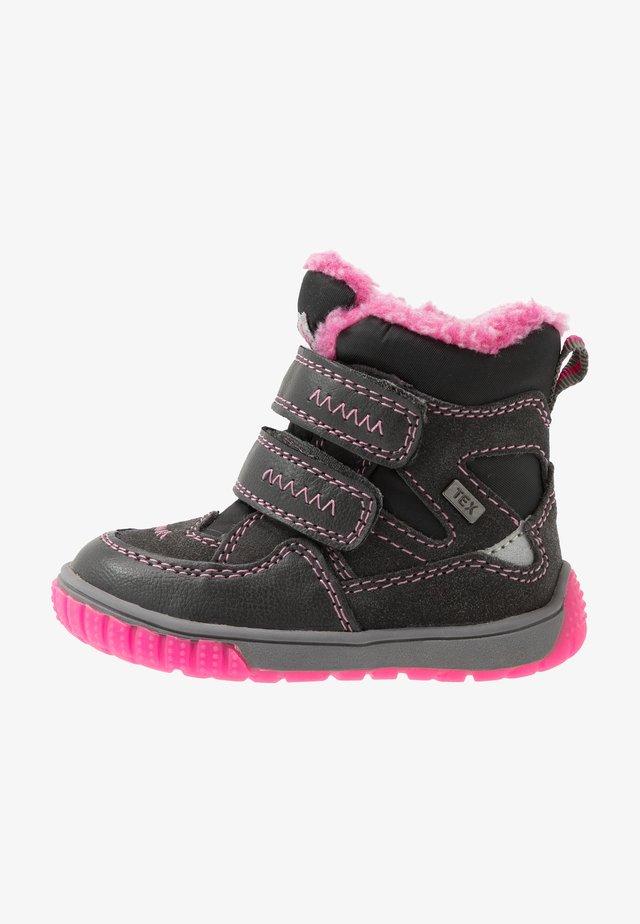 JAUFEN TEX - Stivali da neve  - grey/pink
