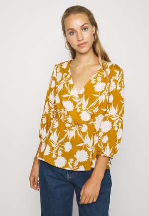 VIKIKKI WRAP 3/4 - Blouse - mineral yellow