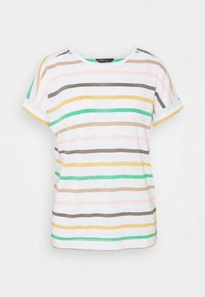 STRIPE - T-shirts med print - white