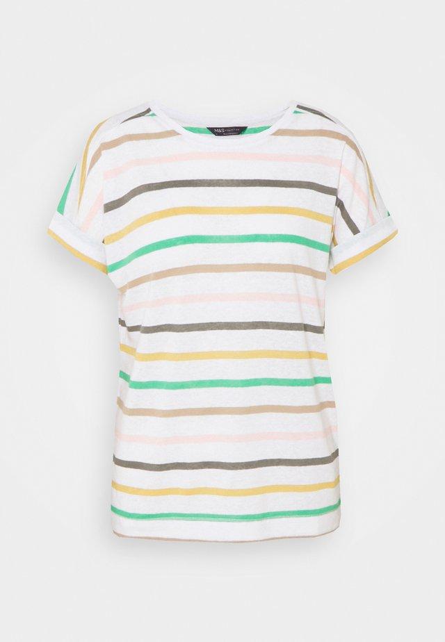 STRIPE - Camiseta estampada - white