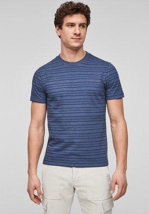 Print T-shirt - blue stripes
