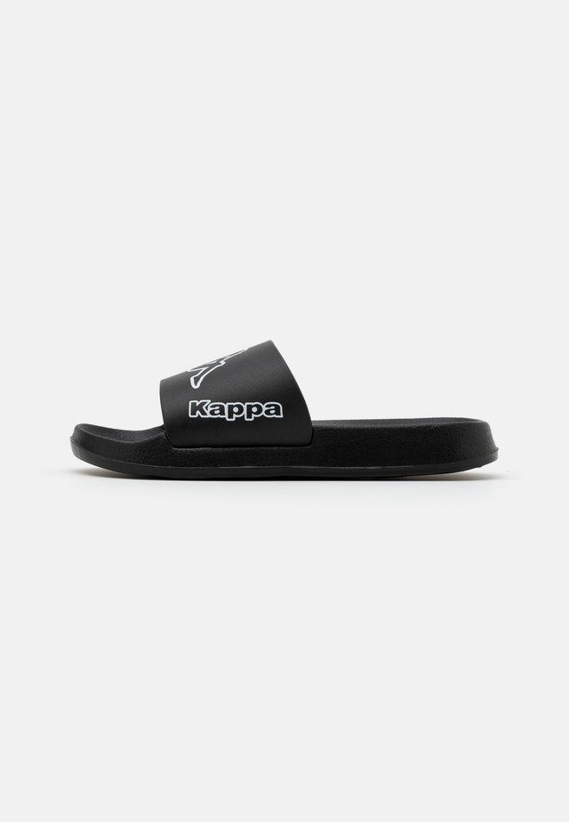 KRUS UNISEX - Badslippers - black/white