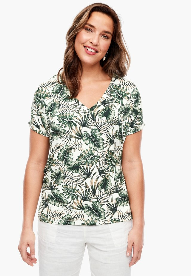 MIT TROPICAL-MUSTER - Print T-shirt - white aop