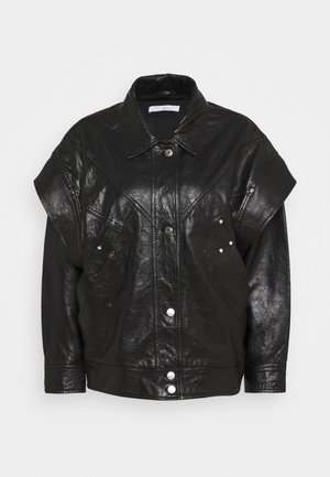 MALASPY - Leather jacket - black