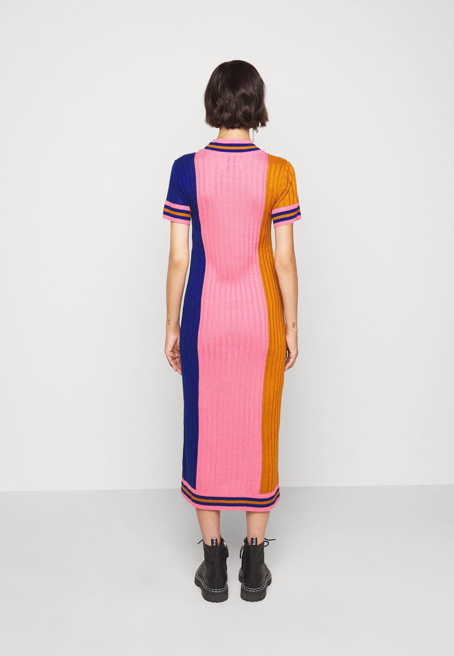 Henrik Vibskov DRESS Etuikleid gold/pink/blue/pink