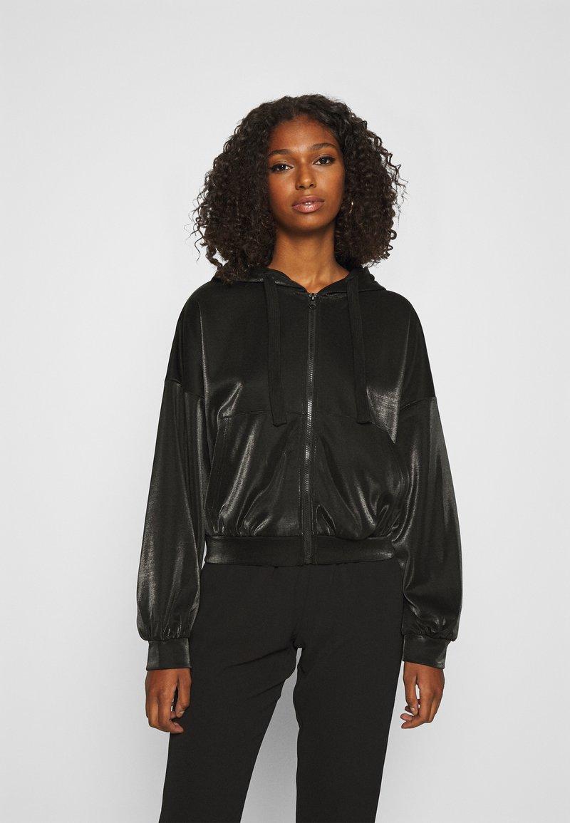 ONLY - ONLCARMEL ZIP HOOD - Zip-up hoodie - black