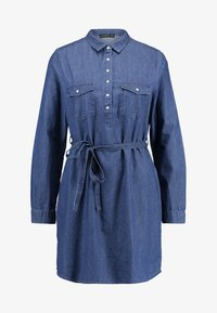 Cotton On - TAMMY LONG SLEEVE DRESS - Shirt dress - dark denim - 5