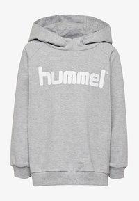 Hummel - LOGO HOODIE UNISEX - Hoodie - grey melange - 0