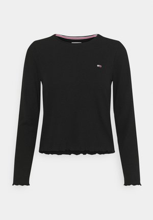 CROP LONGSLEEVE - Long sleeved top - black