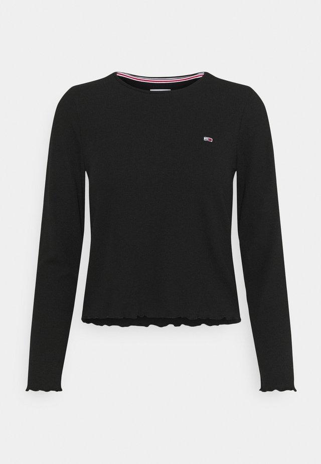 CROP LONGSLEEVE - Maglietta a manica lunga - black