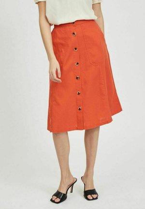 VIALINA  - A-line skirt - burnt ochre