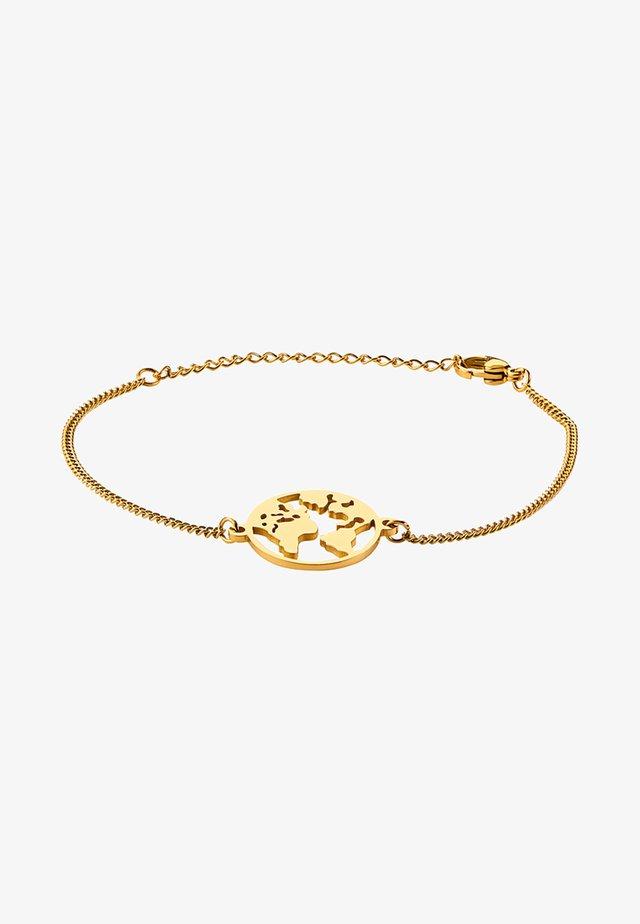 WELTKUGEL GLOBUS - Armband - gold-coloured