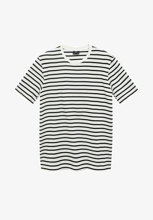 T-shirt con stampa - cremeweiß