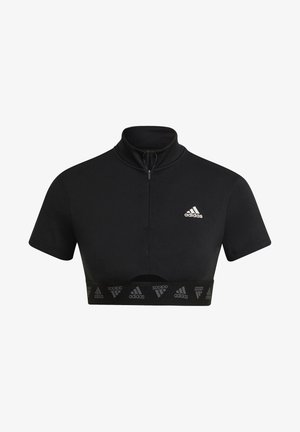 ZIP TRAINING T-SHIRT - T-shirt con stampa - black
