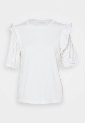 VIMAYRIN FRILL - T-shirts med print - cloud dancer