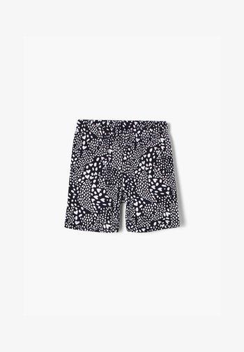 MIT HERZCHEN - Shorts - dark blue aop