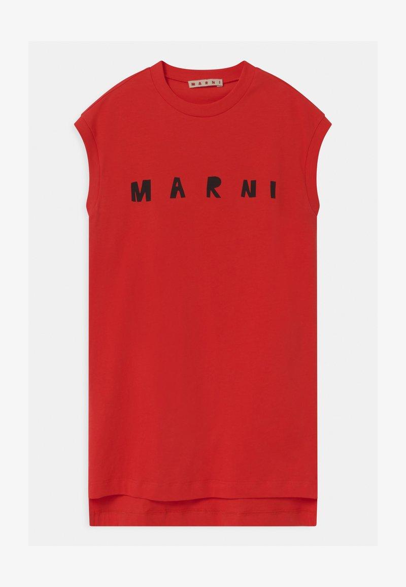 Marni - ABITO - Jersey dress - geranium red