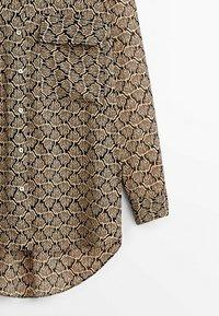 Massimo Dutti - Button-down blouse - beige - 4