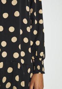 Glamorous - MODESTY SMOCKED HIGHNECK MAXI DRESSES WITH LONG SLEEVES - Maxi dress - black/sand - 3