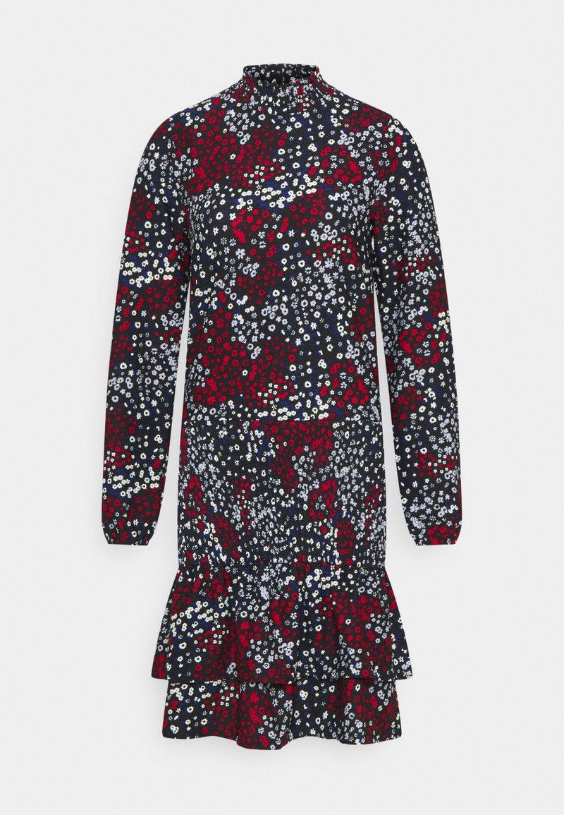 Dorothy Perkins - SHEERED MINI ANIMAL - Jersey dress - black