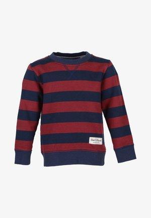 Sweatshirt - navy/red
