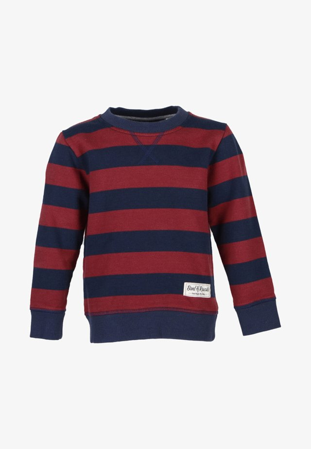 Sweatshirt - navy/red