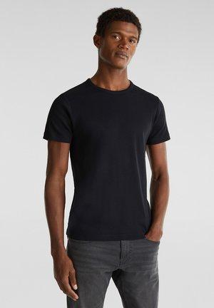 RIPP-SHIRT AUS 100% BAUMWOLLE - Basic T-shirt - black