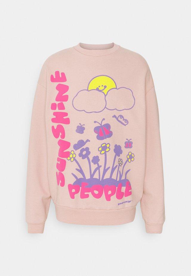 SUNSHINE PEOPLE UNISEX - Felpa - pink