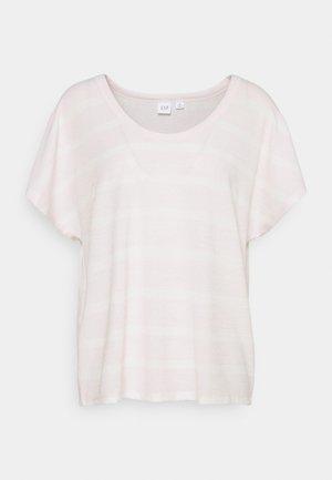 SCOOPNECK - Camiseta estampada - pink/white