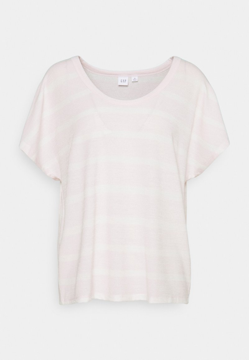 GAP Petite - SCOOPNECK - Print T-shirt - pink/white