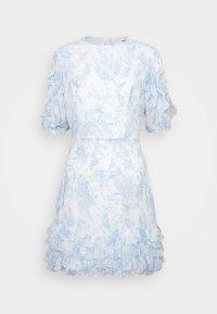 OPEN BACK FRILL DRESS - Kjole - white