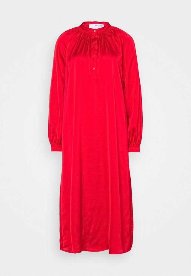SLFHARMONY DRESS - Shirt dress - true red