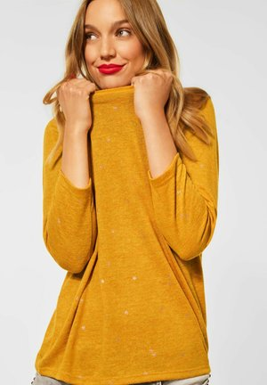 MIT FOLIENPRINT - Long sleeved top - gelb