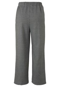 TOM TAILOR DENIM - MIT HAHNENTRITTMUSTER - Trousers - grey - 1