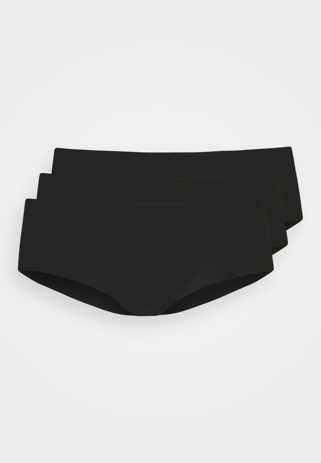 INVISIBLE SHORT 3 PACK - Pants - black