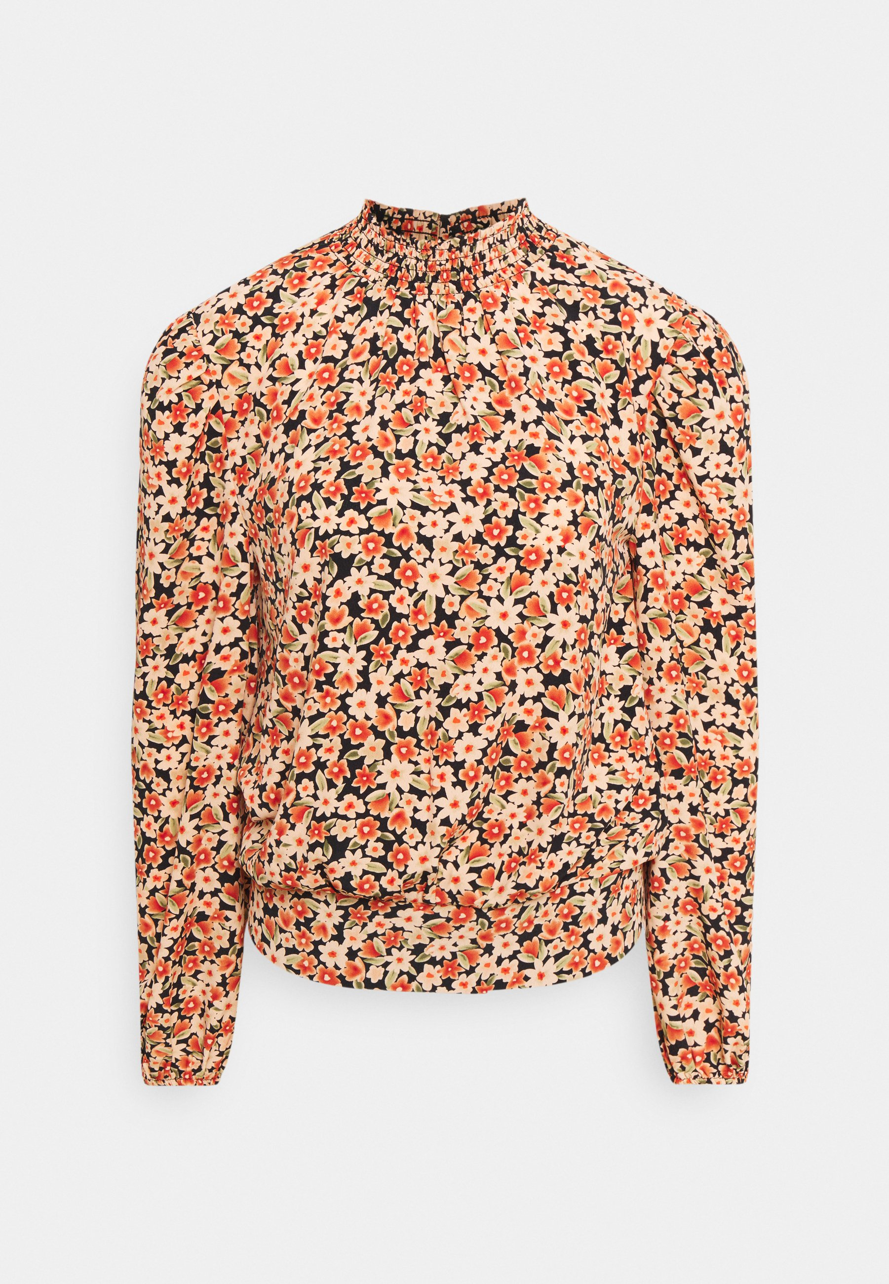 Women SUSTAINABLE SHIRRED NECK FLORAL - Blouse
