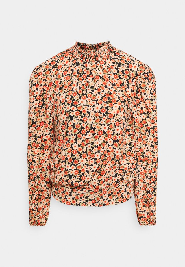 SUSTAINABLE SHIRRED NECK FLORAL - Blouse - multi