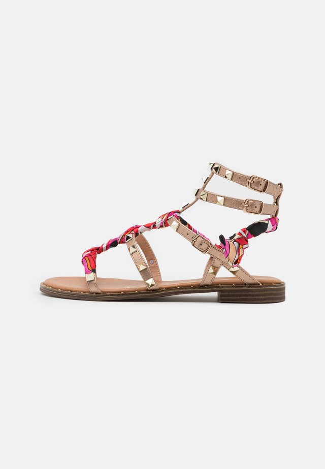 Sandales - laminato rosa/oro