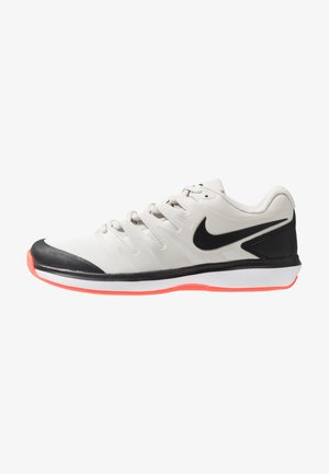 AIR ZOOM PRESTIGE CLAY - Clay court tennis shoes - light bone/black/hot lava/white