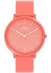 s.Oliver - S.OLIVER UNISEX-UHREN ANALOG QUARZ - Watch - apricot - 0