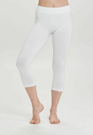 SEAMLESS CAPRI - Leggings - white