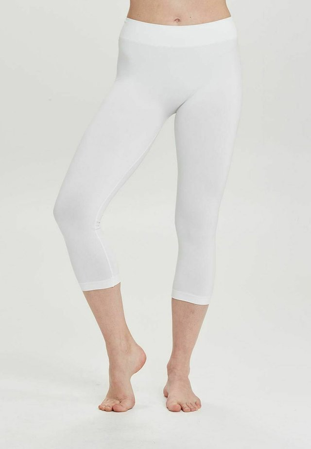 SEAMLESS CAPRI - Legging - white